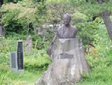 大町桂月の像